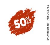 special offer sale red tag....   Shutterstock .eps vector #755093761