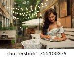 travel  coffee  leisure ... | Shutterstock . vector #755100379