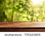 empty table background | Shutterstock . vector #755101855