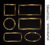vector rectangle frame. shining ... | Shutterstock .eps vector #755109481