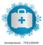 first aid christmas icon | Shutterstock .eps vector #755120449
