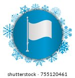flag christmas icon | Shutterstock .eps vector #755120461