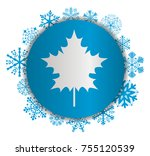 leaf christmas icon | Shutterstock .eps vector #755120539