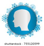 head christmas icon | Shutterstock .eps vector #755120599
