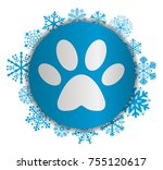 footprint christmas icon | Shutterstock .eps vector #755120617