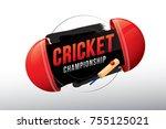 vector of cricket championship... | Shutterstock .eps vector #755125021
