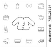 jacket icon. set of shopping... | Shutterstock .eps vector #755128339