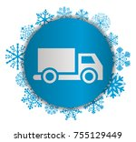 truck christmas icon | Shutterstock .eps vector #755129449