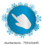 hand christmas icon.eps | Shutterstock .eps vector #755131645