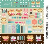scrapbook elements for any use | Shutterstock .eps vector #75513901