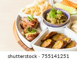 hors d'oeuvres of northern... | Shutterstock . vector #755141251