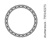 chain vector object design | Shutterstock .eps vector #755142271