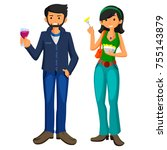 vector illustration of young... | Shutterstock .eps vector #755143879