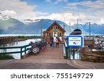 haines  alaska  usa   july 29th ... | Shutterstock . vector #755149729