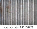 zinc texture background. rusty... | Shutterstock . vector #755150491
