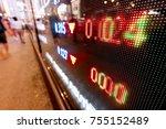 stock market in the city | Shutterstock . vector #755152489