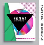 cover design template with...   Shutterstock .eps vector #755153911