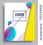 cover design template with...   Shutterstock .eps vector #755153935