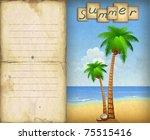Illustration Of Summer Beach...