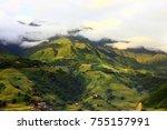terraced rice field in sapa ...   Shutterstock . vector #755157991