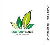 landscaping logo vector... | Shutterstock .eps vector #755158924