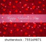 valentine's day background love ... | Shutterstock . vector #755169871