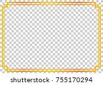 golden frame  double outline ... | Shutterstock .eps vector #755170294