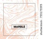 marble background. vector pink... | Shutterstock .eps vector #755175595
