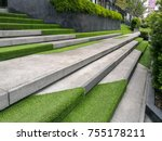 hardscape of modern building... | Shutterstock . vector #755178211