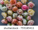 flower frame backgrounds... | Shutterstock . vector #755185411