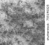 gray grunge background. the old ... | Shutterstock . vector #755190325