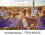 barcelona signature style.... | Shutterstock . vector #755194315