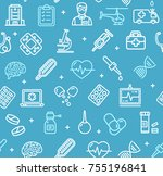 medicine symbols and signs... | Shutterstock .eps vector #755196841
