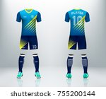 3d realistic of front and back...   Shutterstock .eps vector #755200144