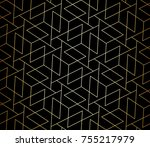 seamless linear pattern with... | Shutterstock .eps vector #755217979
