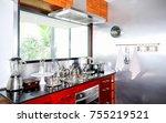 modern kitchen room interior | Shutterstock . vector #755219521