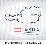 austria sketch chalk drawing... | Shutterstock .eps vector #755220121