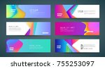 vector horizontal banner... | Shutterstock .eps vector #755253097