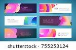 vector horizontal banner... | Shutterstock .eps vector #755253124