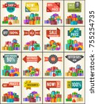 big collection of best prices... | Shutterstock .eps vector #755254735