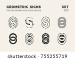set of eight minimalistic...   Shutterstock .eps vector #755255719