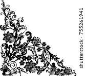 illustration with black... | Shutterstock .eps vector #755261941