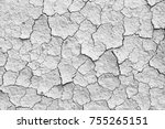 Dry Cracked Earth Or Clay...