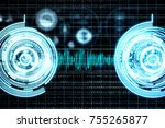 abstract blue digital buttons...