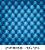 blue button tufted leather...