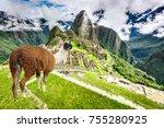 machu picchu  cusco  peru  ... | Shutterstock . vector #755280925