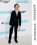 jacob tremblay at the los... | Shutterstock . vector #755293579