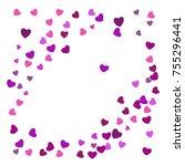 hearts confetti  bright... | Shutterstock .eps vector #755296441