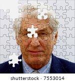 jigsaw businessman incomplete... | Shutterstock . vector #7553014