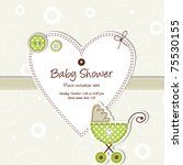 baby arrival card | Shutterstock .eps vector #75530155
